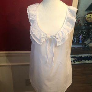 White sleeveless Top
